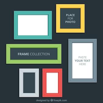 Modern color photo frames