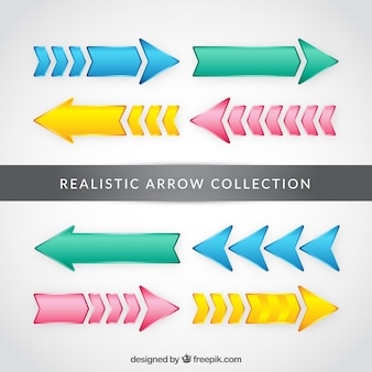 Modern colored arrows