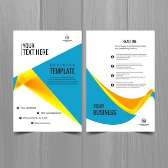 Modern colorful business brochure
