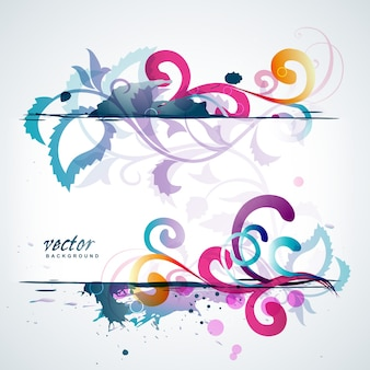 Modern colorful floral background
