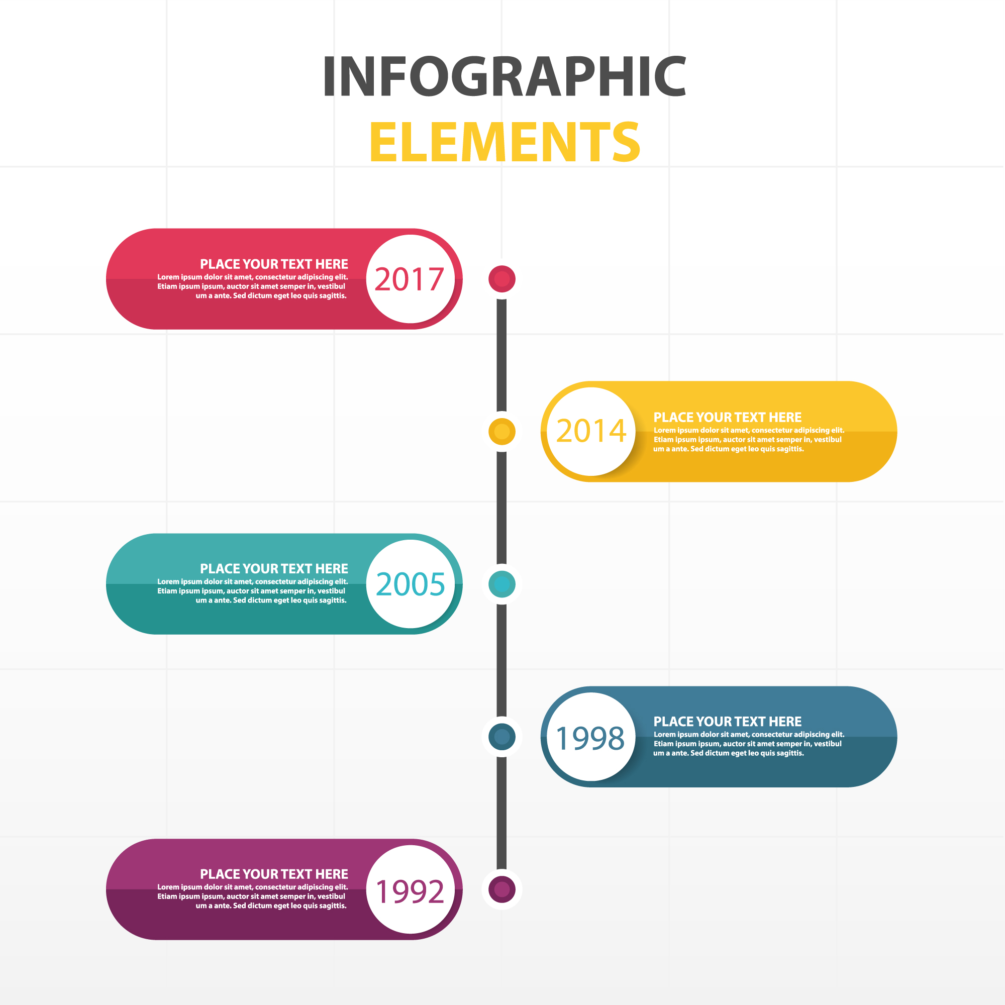 Modern colorful infographic template