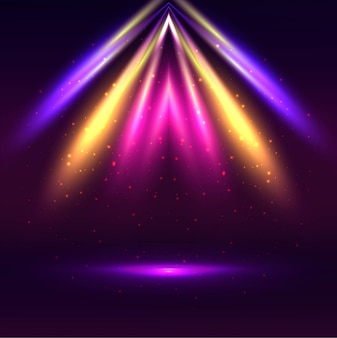 Modern colorful lights background