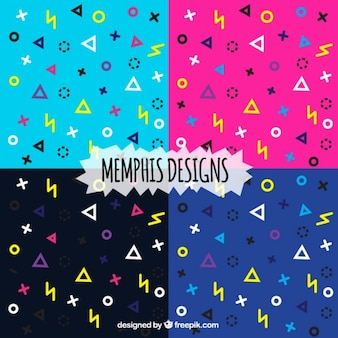Modern colorful pattern in memphis style