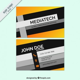 Modern communication services business card