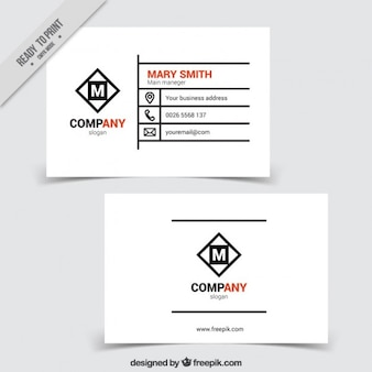 Modern company card template