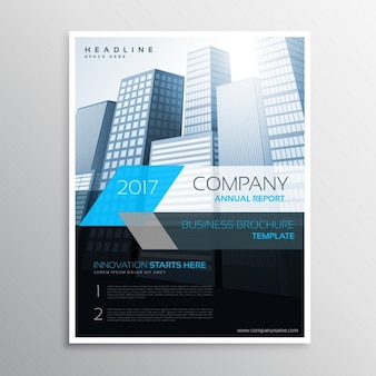 Modern company flyer with buildings
