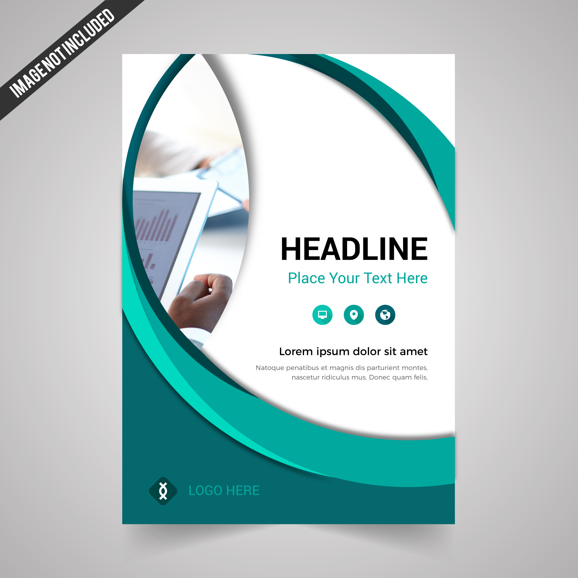 Modern Corporate Brochure With Web Shapes