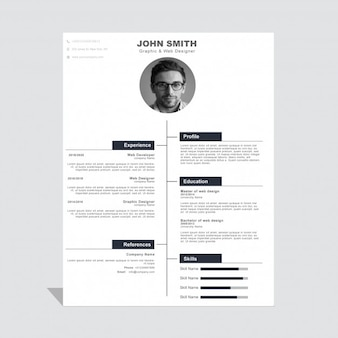 Modern corporate curriculum vitae template