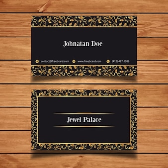 Modern corporate luxury card