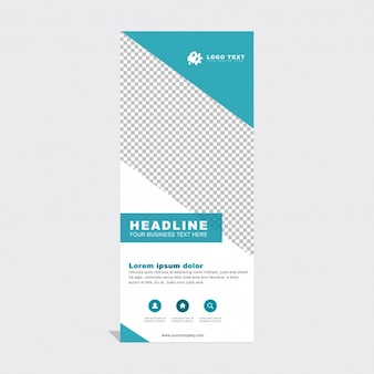 Modern corporate roll up template