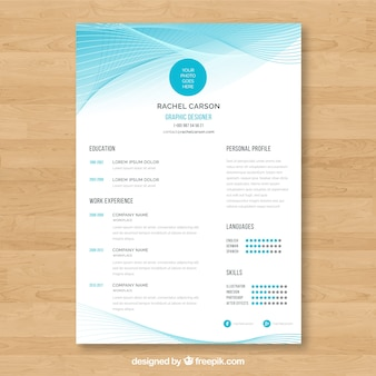 Modern curriculum template with abstract shapes