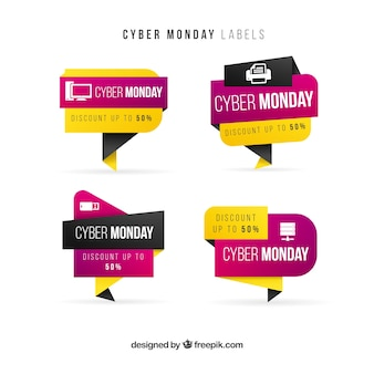 Modern cyber monday stickers