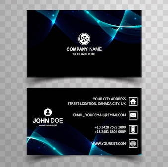 Modern dark business card