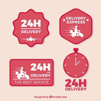Modern delivery labels with lovely style