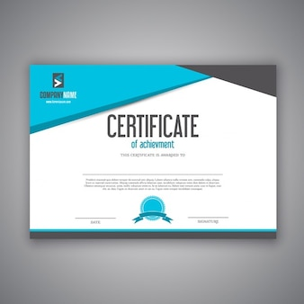 Modern design for a certificate