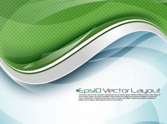 Modern digital wave background in green and blue