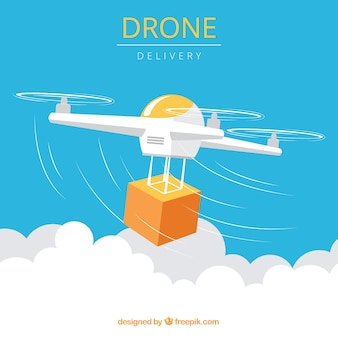 Modern drone withcarton box