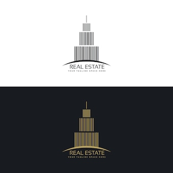 Modern elegant real estate logo