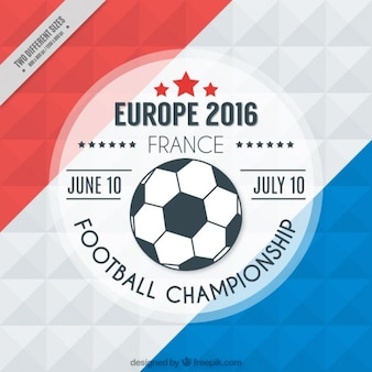 Modern euro 2016 with france flag background