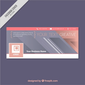 Modern facebook cover for business
