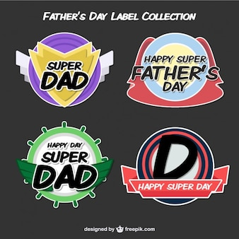 Modern father's day labels