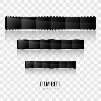 現代のフィルムリールの背景