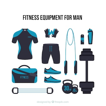 Modern fitness equipment for man