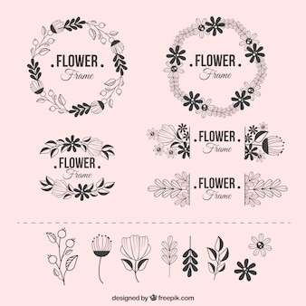 Modern floral frame collection