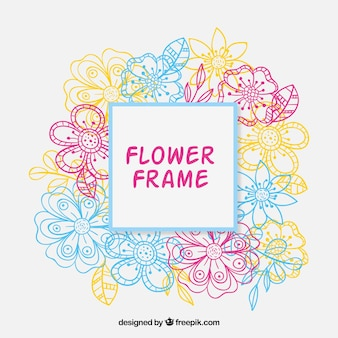Modern floral frmae with colorful style