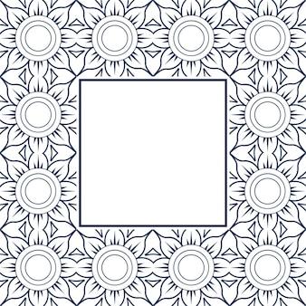 Modern floral mandala background with frame