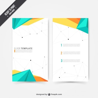 Modern flyer in polygonal design