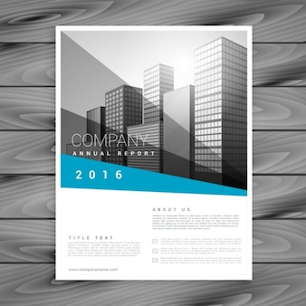 Modern flyer with geometric shapes