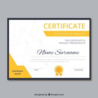 現代の幾何学的な卒業証書