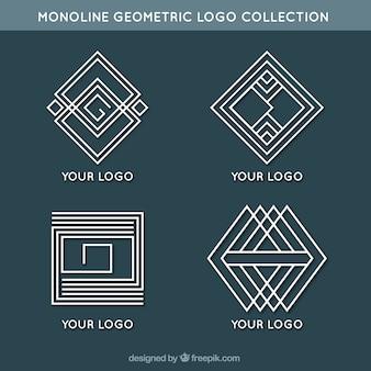 Modern geometric monoline logos