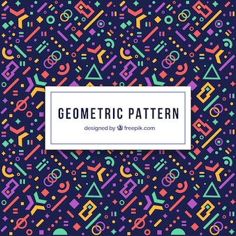 Modern geometric pattern with futuristic shapes
