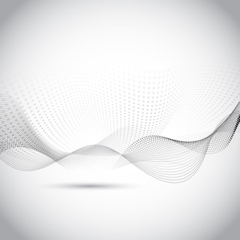 Modern gray abstract background with wavy shapes
