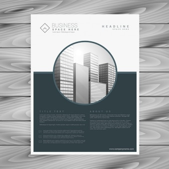 Modern gray flyer with geometric shapes