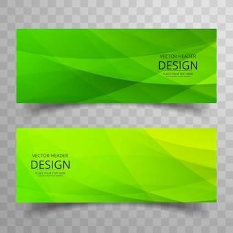 Modern green banners