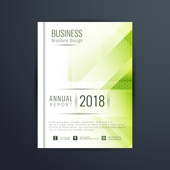 Modern green business brochure