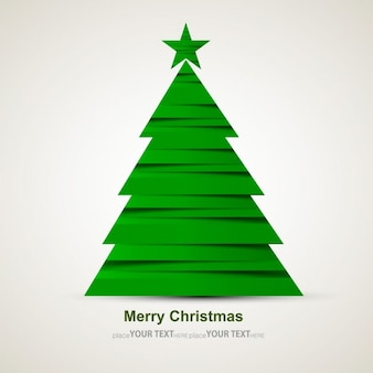 Modern green Christmas tree