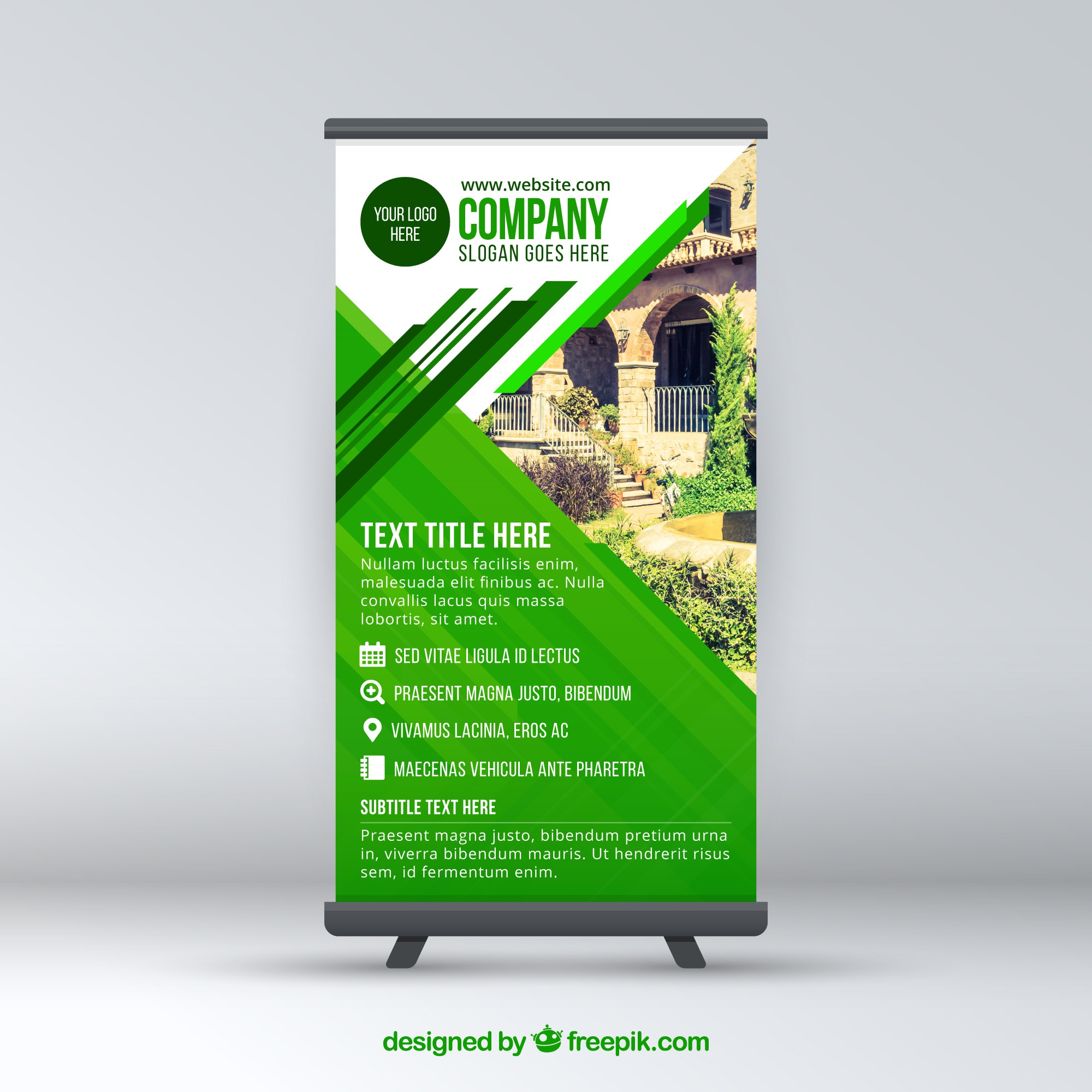 Modern green company roll up