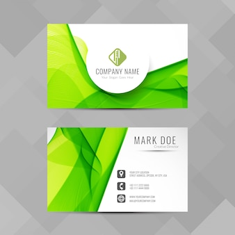 Modern green corporate card