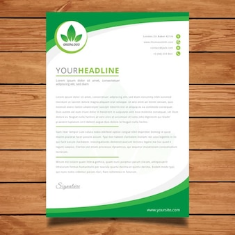 Modern green corporate letterhead
