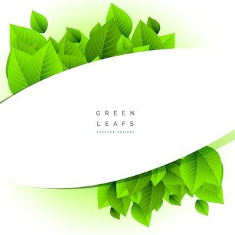 Modern green leaves design