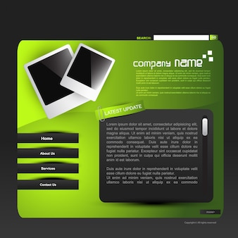 Modern green website template