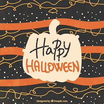 Modern halloween background with pumpkin