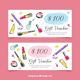Modern hand drawn beauty sales banners