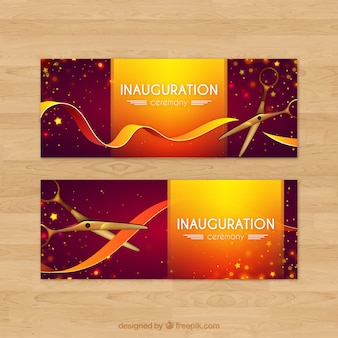 Modern inauguration party banners
