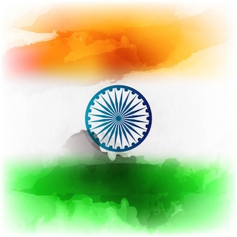 Modern Indian flag design in watercolor