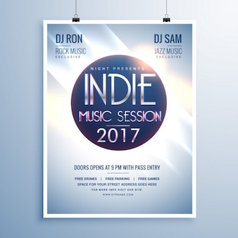 Modern indie 2017party poster